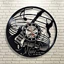 Image of chitarra arte musicale regalo cerchio vinile orologio da parete artista residenza decorazione interior design camera dei bambini soggiorno camera da letto