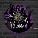 Image of band tema hollow cd registrazione orologio def leppard regalo decorativo vinile orologio da muro