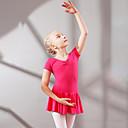Image of Abbigliamento da ballo per bambini / Danza classica Vestiti Da ragazza Addestramento / Prestazioni Cotone Con ruche Manica corta Naturale Abito