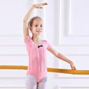 Image of Abbigliamento da ballo per bambini / Danza classica Body Da ragazza Addestramento / Prestazioni Cotone Fiocco (fiocchi) Manica corta Naturale Calzamaglia / Pigiama intero