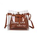 Image of Per donna Sacchetti PU Borsa a tracolla Set di borsa da 2 pezzi A fantasia / stampa Alfabetico Rosso / Rosa / Marrone