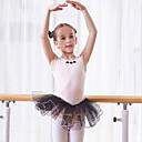Image of Abbigliamento da ballo per bambini / Danza classica Vestiti Da ragazza Addestramento / Prestazioni Cotone Di pizzo / Più materiali Senza maniche Naturale Abito