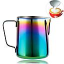 Image of tazze da caffè personalizzate color arcobaleno, cappuccinatore per macchine espresso