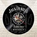 Image of 2018 real horloge murale klok orologio da parete grande spedizione gratuita orologio da parete in vinile retro nostalgia jack danielamp;amp; # 39 1 s whisky