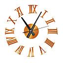 Image of 3d orologio al quarzo home decor grande romano silenzioso adesivo acrilico orologi moderni soggiorno orologio da parete fai da te orologio elegante orologio da parete