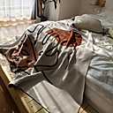 Image of 100% cotone coperta da tiro testurizzato morbido divano divano decorativo lavorato a maglia coperta divano coperta copridivano