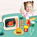 Electronic microwave oven set toy, developmental educational pretend play set, ideal kitchen appliances microwave oven toy sounds amp; lights gift for boys girls
