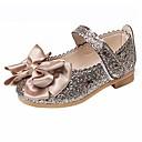 Toddler girls ballet mary jane flats bowknot ballerina wedding princess dress shoes (gold,24)