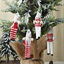 Image of 2 pezzi di ornamenti natalizi ciondolo a forma di pupazzo con gambe lunghe lavorato a maglia ciondolo bambola bambola creativa vecchio