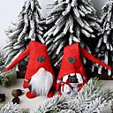Image of ornamenti natalizi per gli anziani nella foresta amore bambola in piedi piccola bambola ornamenti bambola senza volto