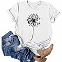 Shirts for women fashion round neck printing print tee shirt casual short sleeve t-shirt top blouses