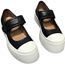 Women's Heels Chunky Heel Round Toe Lolita Daily PU Solid Colored White Black