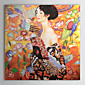 Hand-painted Gustav Klimt Oil Painting  with Stretched Frame 3204