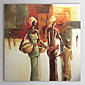 Hand-painted People Oil Painting with Stretched Frame 3204