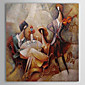 Hand-Painted Abstract / People One Panel Canvas Oil Painting For Home Decoration 3204
