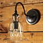 Retro-Wandleuchte mit Blumenglasschirm und Metallbügel 6160