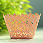 Floral Laser Cutting Cupcake Wrapper- Set of 12 3204