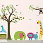 DIY Wall Stickers Animal Cartoon Zoo Washable Wall Decals 3204