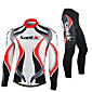 SANTIC Cycling Jersey with Tights Men's Long Sleeve BikeBreathable / Thermal / Warm / Windproof / Anatomic Design / Fleece Lining / 3204