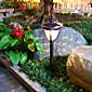 2PCS weiße LED Retro Edelstahl Solar Rasen Licht 6160