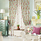 (Two Panels) Classic Country Fancy Floral Energy Saving Curtain 3204