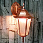 Außenwandleuchte, 1 Light, Classic Alu-Glas-Malerei 6160