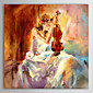 Oil Painting People The Girl Playing The Violin with Stretched Frame Hand-Painted Canvas 3204