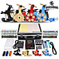 Professional Tattoo Kit 4 Machine Gun Power Supply 56 Color Inks 3204