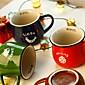 Large Vintage Animal Cup Enamel Style Mug Random Color,10.5x8x9cm 3204