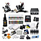 Professional Tattoo Kit 21 color Ink Power Supply 2 Machine Guns 3204