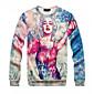 Men's Fashion Print Beauty Sexy 3D Sweatshirt 3204