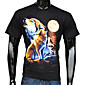 Men's Fashion 3D Wolf Howl Over Moon Printed  T-Shirt 3204