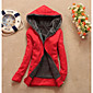 Women's Casual Fleece Lining Zipper Thicken Hoodie Sweatshirt Coat 3204