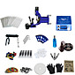 1 Gun Complete No Ink Tattoo Kit with Blue Tatoo Machine and  Lcd Screen Blue Power Supply 3204