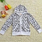 Girl's Family Fitted Cotton Jacket Zipper Hooded Gown Youngster Seasons Air Conditioning Shirt Kids 6160