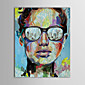 Hand Painted Oil Painting People Man in Glass Knife Painted Painting with Stretched Frame 3204