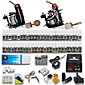 Complete Tattoo Kit 2 Machine Guns 54 Ink Set Equipment Needle Power Supply 3204