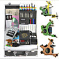 3 Cast Iron Tattoo Gun Kit with LCD Power 3204
