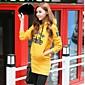 YGR Women's Causal Letters Printing Hoodies Outwear 3204