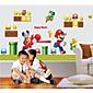 Wandaufkleber Wandtattoo, Super Mario Brothers Home Decor Kidsroom PVC-Wandaufkleber 6160