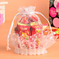 White Lace Basket Candy Favor Bag-Set of 12(More Colors) 3204