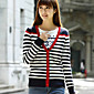 An Belard New Korean Fashion Contrast Color Personality Stripes Sweater Cardigan 3204