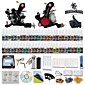 Tattoo Machine Kits with 2 Stainless Steel  Tattoo Machines and 54 Colors 5ml Tattoo Inks 3204