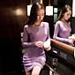 Soho Women's Korean Slim Thin Bottoming Bottoming Dress 3204