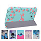 Ya Ku Mei Protective Tablet Cases Leather Cases Purple Rose Pattern for Samsung T111 T110 3204