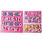 FOUR-C Silicone Cupcake Molds Number Fondant Moulds,Fondant Decorating Tools Supplies Color Pink 3PCS/Set 3204