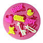 FOUR-C Silicone Cup Cake Mold Boy Girl And Baby Sugarpaste Mould,Fondant Decorating Tools Supplies Color Pink 3204