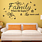 Wall Stickers Wall Decals, Style The New English Proverbs Flower Vine PVC Wall Stickers 3204