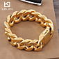 Kalen 2015 Men's Jewelry Stainless Steel High Quality Professional Gold Nugget Bracelet Christmas Gifts 3204