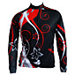 GETMOVING Men's Women's Long Sleeves Cycling Jersey - BlackGloden Bike Jersey, Anatomic Design, Breathable 3204